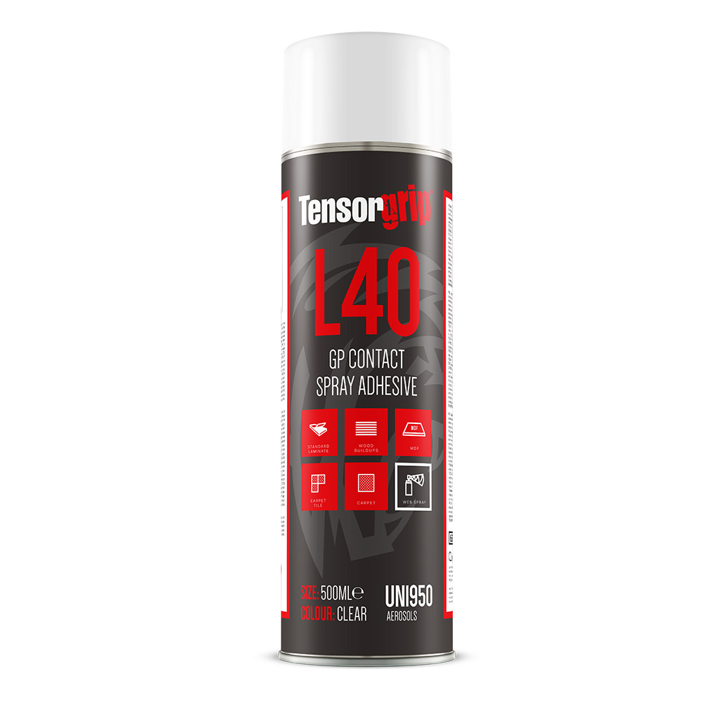 L40 spray adhesive front on