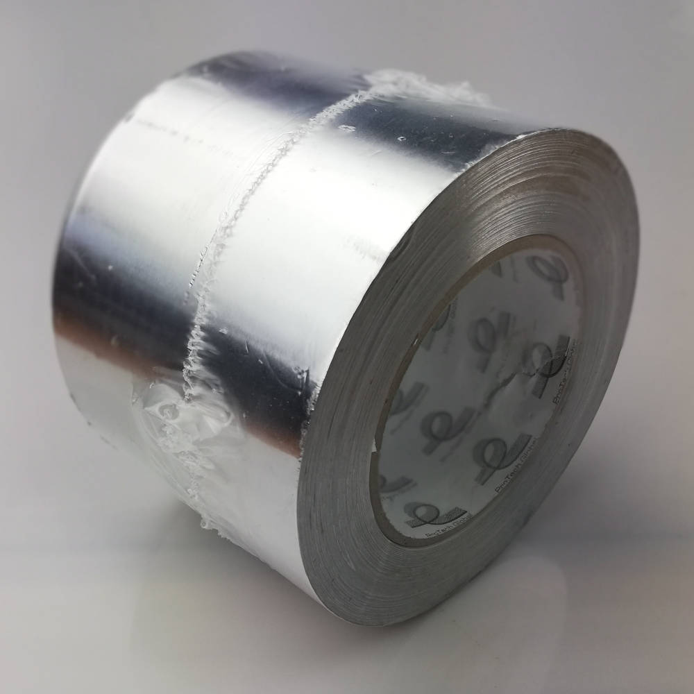 100mm x 50 Metre 30 Micron (1.2 mils) Cold Weather Aluminium Foil Tape