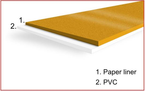 Construction of the Double Sided PVC Tape with Solvent Acrylic Adhesive