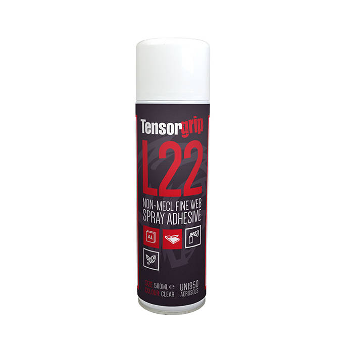L22 spray adhesive front on