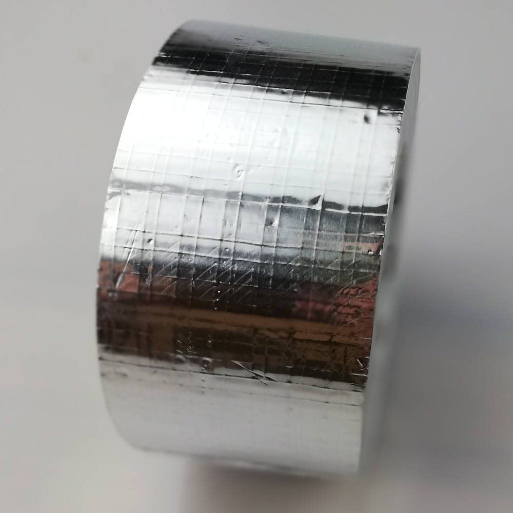 Roll of 100mm Reinforced Cold Weather Aluminium Foil Tape