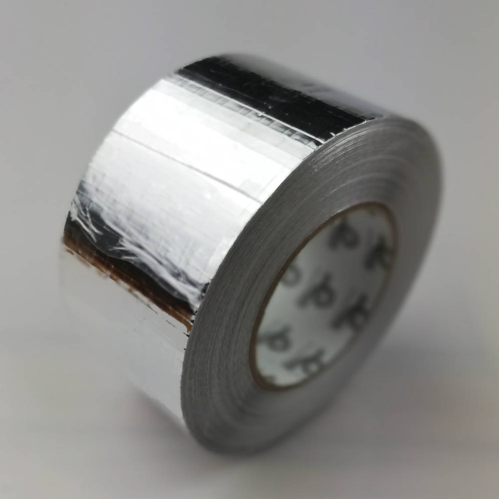 Roll of 75mm Reinforced Cold Weather Aluminium Foil Tape
