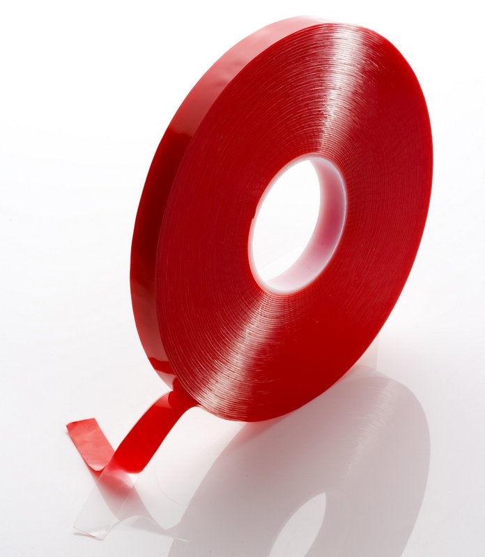 6mm x 1mm x 33 Metres Foamed Clear Structural Acrylic Gel Tape With Red Liner