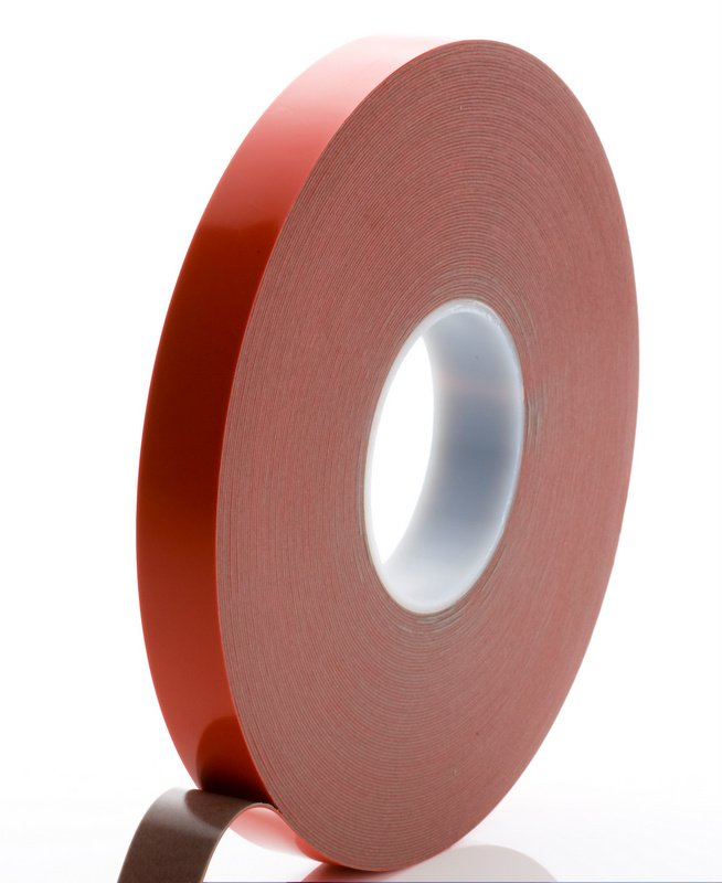 6mm x 1.2mm x 33 Metre Foamed Grey Structural Acrylic Gel Tape With Red Liner
