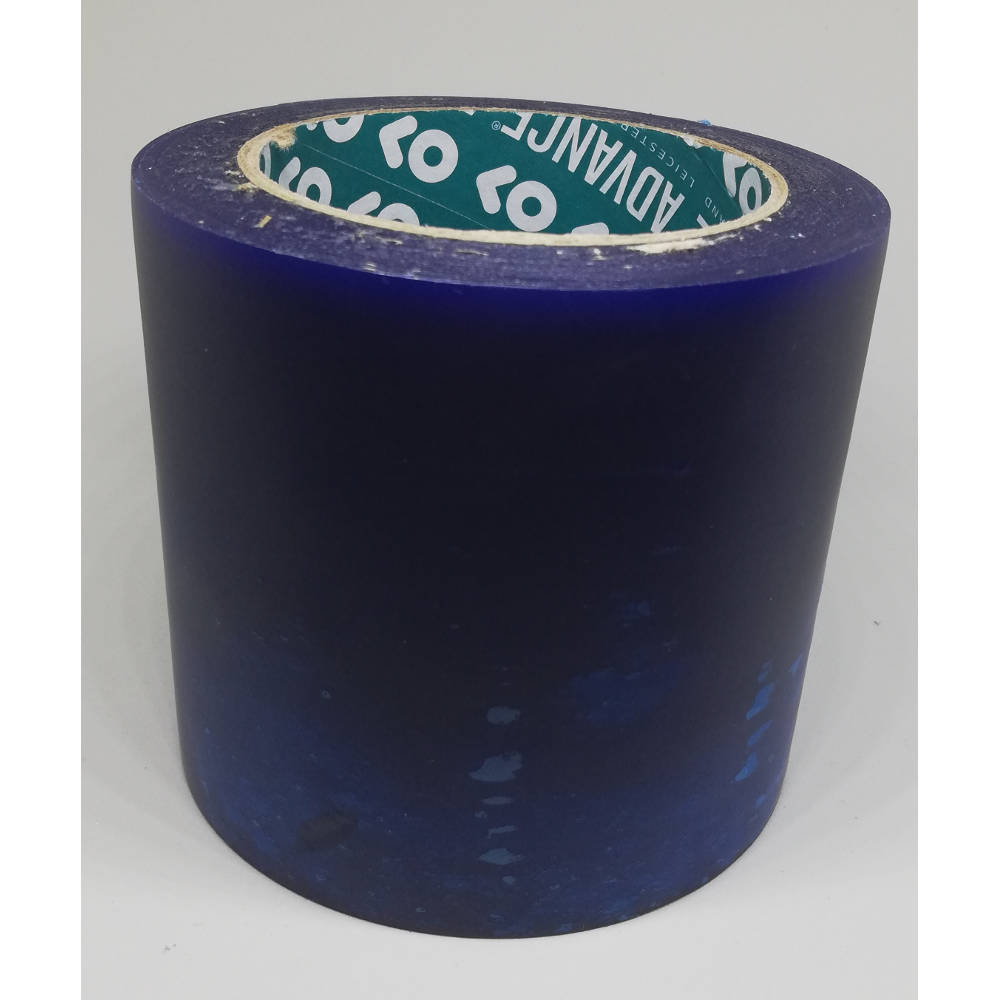 100mm x 33 Metre Translucent Blue PVC Protection Tape 3