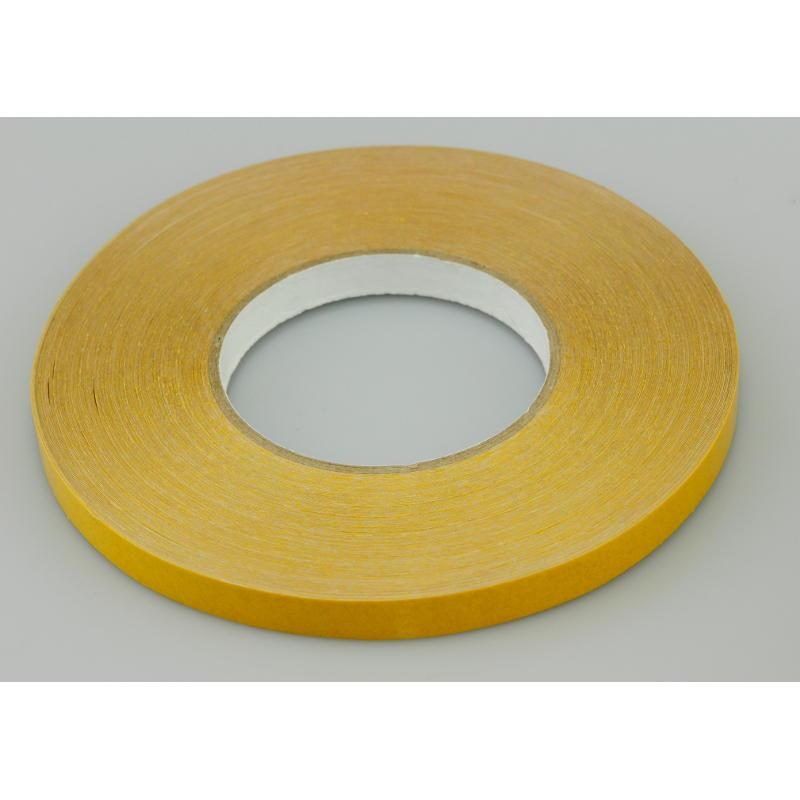12mm x 50 Metres Double Sided PVC Tape with Solvent Acrylic Adhesive