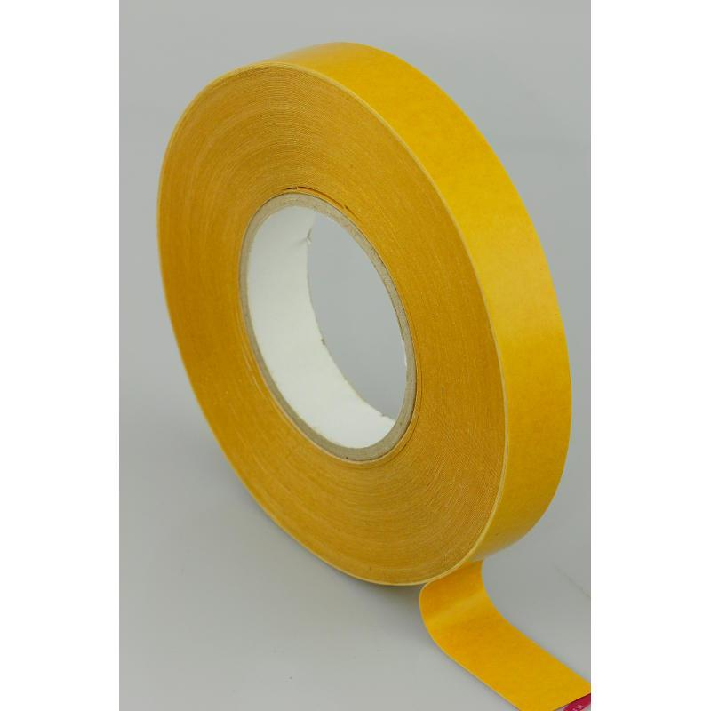 25mm x 50 Metres Double Sided PVC Tape with Solvent Acrylic Adhesive