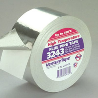 50mm x 50 Metre High Temp Cold Weather Aluminium Flue Pipe Foil Tape