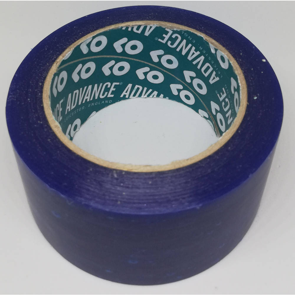 50mm x 33 Metre Translucent Blue PVC Protection Tape 3