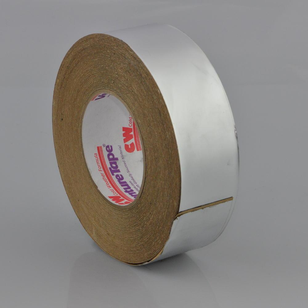 50mm x 50 Metre 5ply Aluminium Finish Laminate Polyester Cold Weather Foil Tape