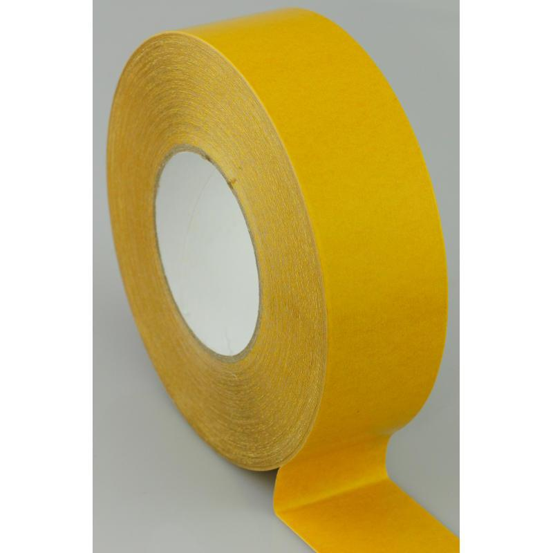 50mm x 50 Metres Double Sided PVC Tape with Solvent Acrylic Adhesive