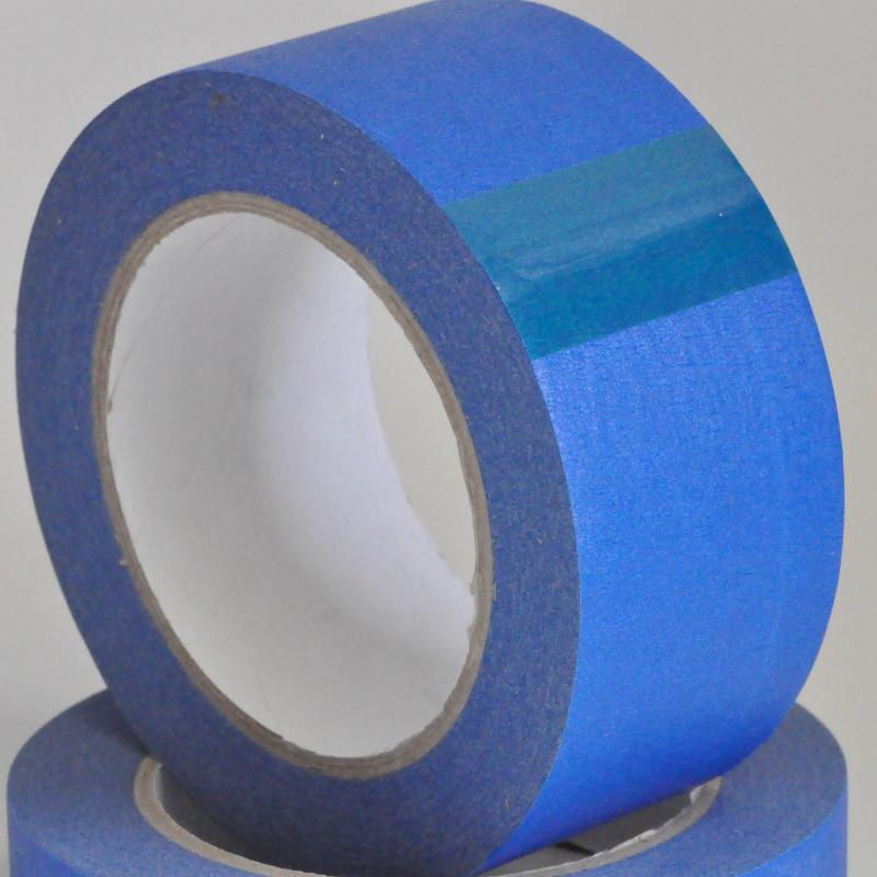 50mm x 50 Meters 14 Day Blue Outdoor Paper Masking Decorators Tape