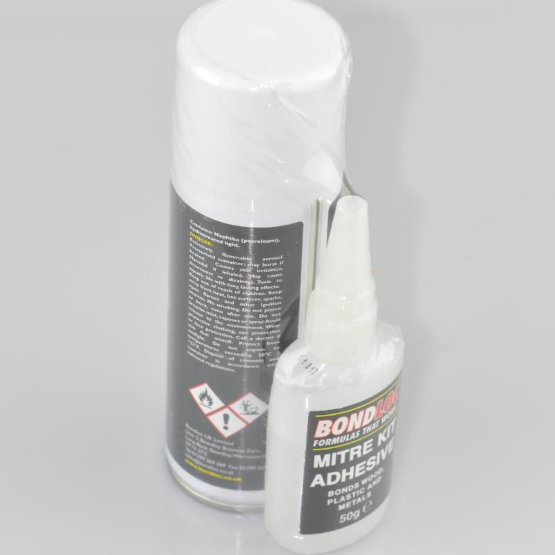 Bondloc Mitre Kit (Cyanoacrylate Adhesive & Activator)