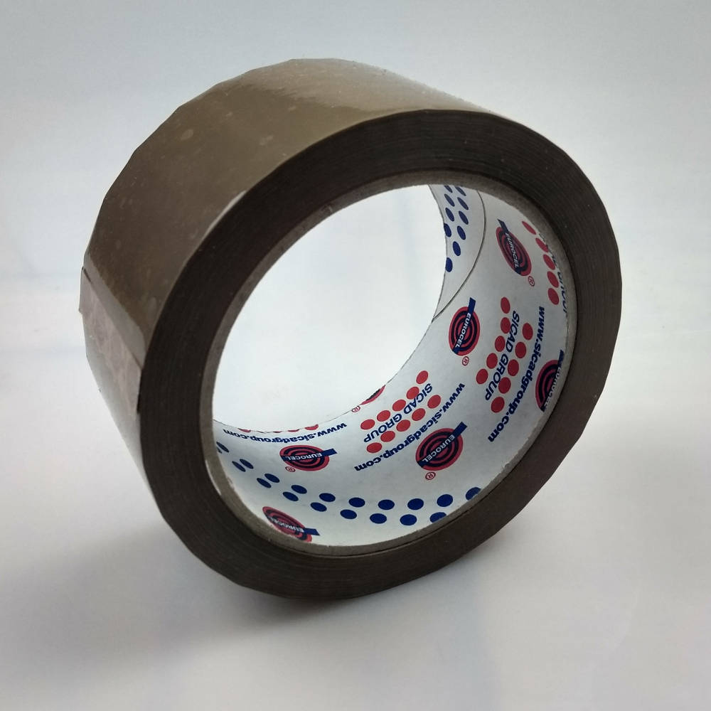 Roll of Low Noise Polypropylene Carton Sealing Tape tilted