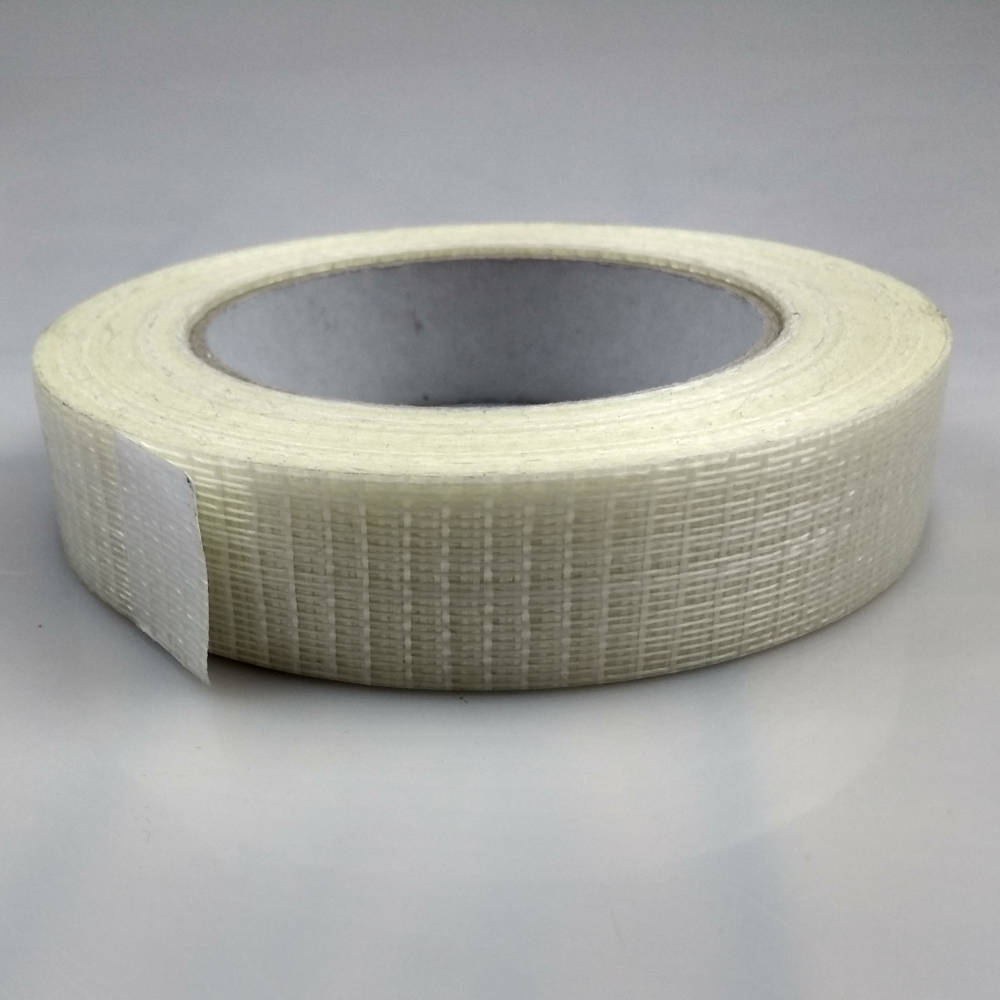 Roll of Glass Filament Crossweave Strapping Tape on its side