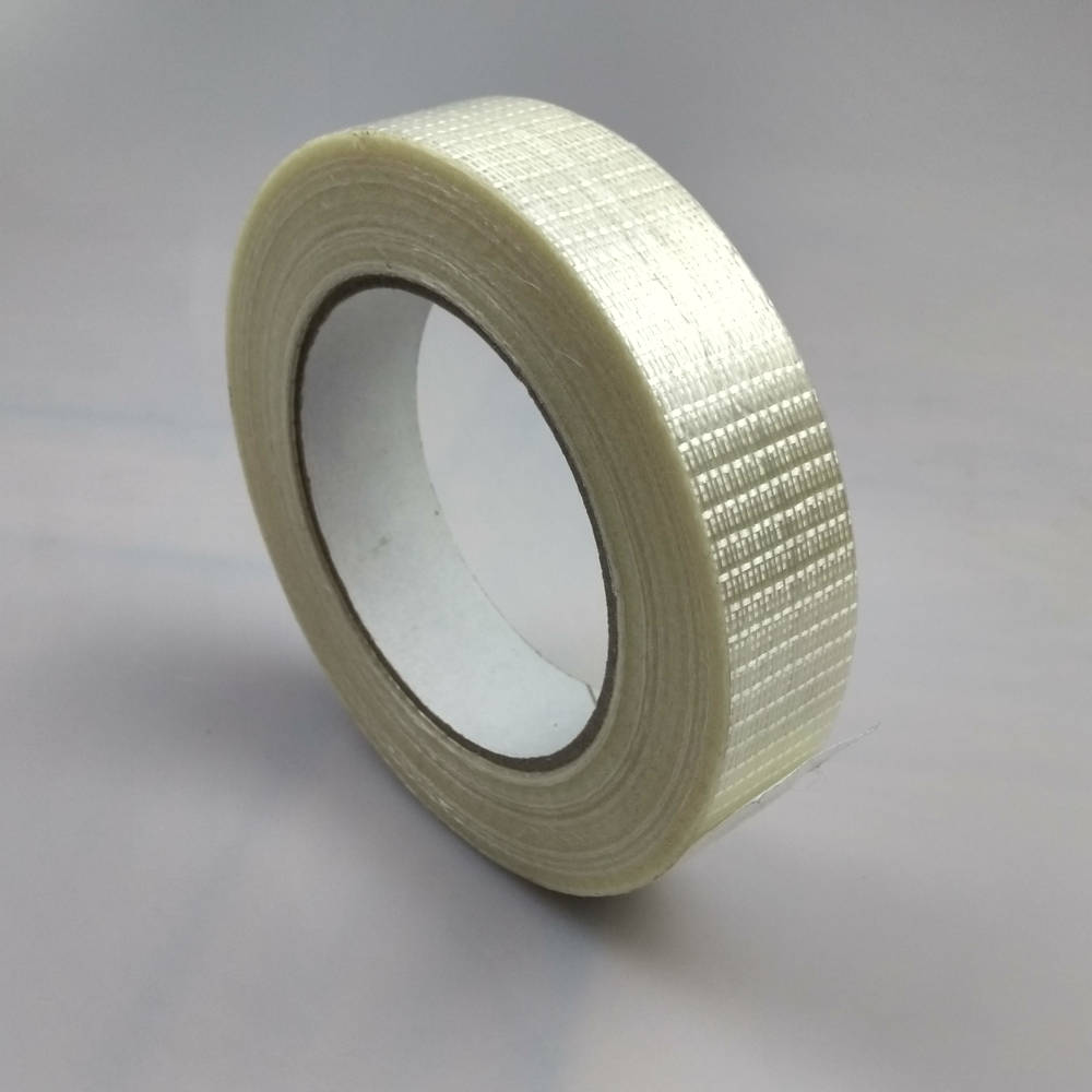Roll of Glass Filament Crossweave Strapping Tape up right