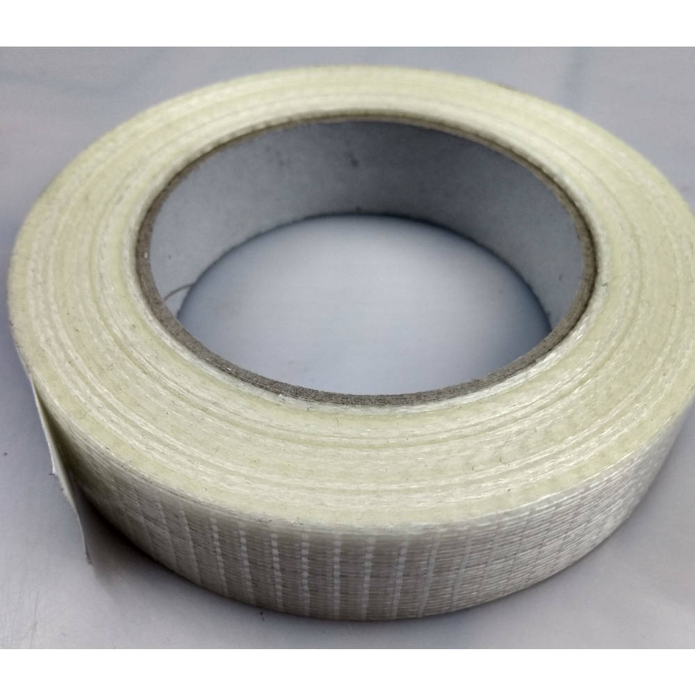 Roll of Glass Filament Crossweave Strapping Tape on its back