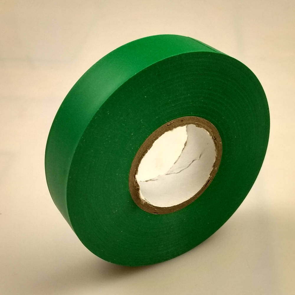 Green PVC Electrical Tape pointing to the left