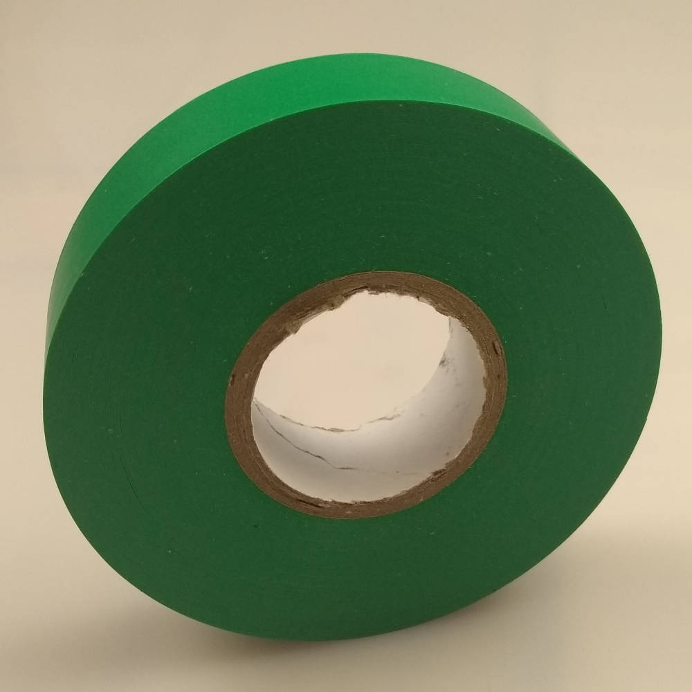 Green PVC Electrical Tape pointing to the right