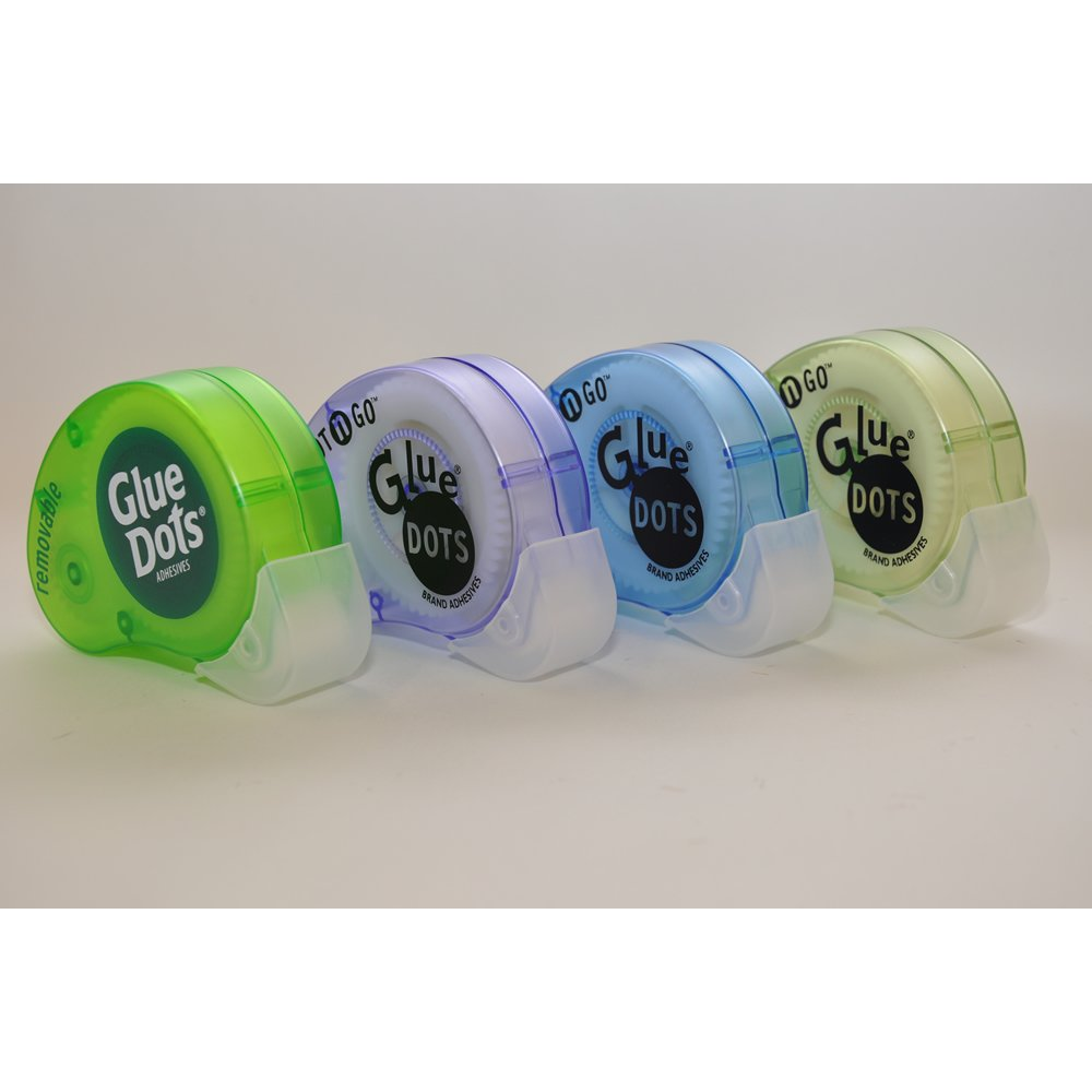 200 Glue Dots - Dot N' Go Dispensers - Mini or Poster