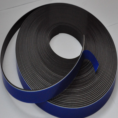 Magnetic Tape with White Foamed Adhesive Backing