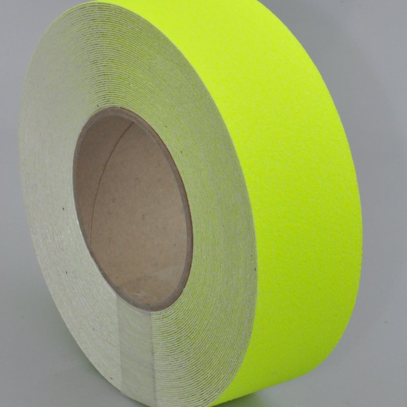 Bright yellow anti slip tape