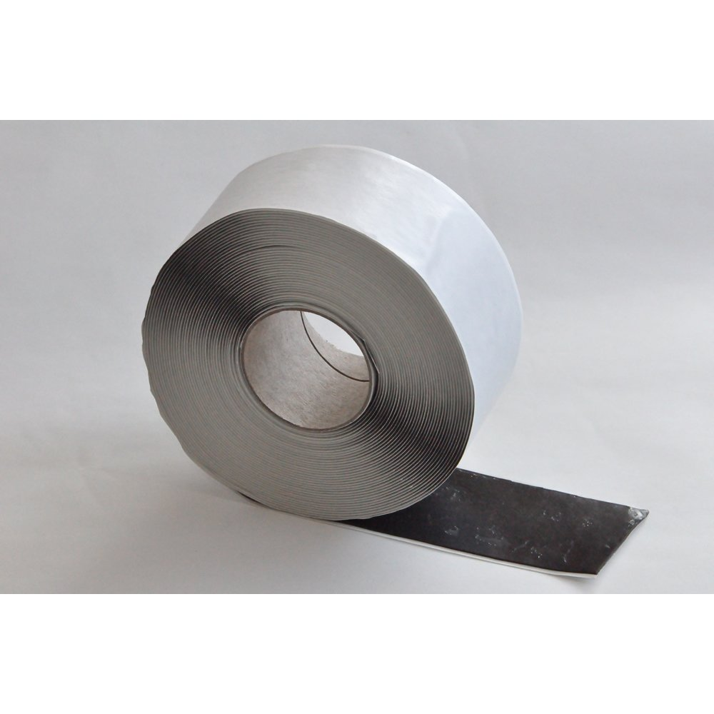 50mm x 1mm x 10 Metre Black Butyl Membrane Jointing and Sealing Tape