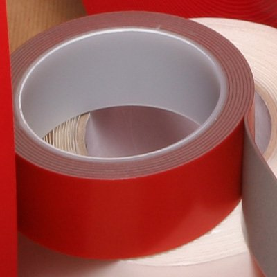 Roll of Foamed White Structural Acrylic Gel Tape 1