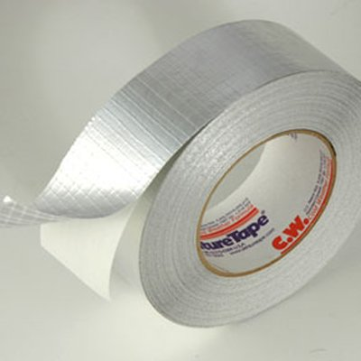 100mm x 50 Metre Reinforced Cold Weather Aluminium Foil Tape