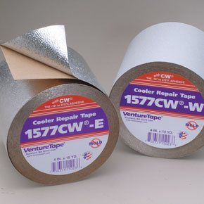 100mm x 50 Metre Aluminium Finish 5ply Polyester Laminate Cold Weather Foil Tape