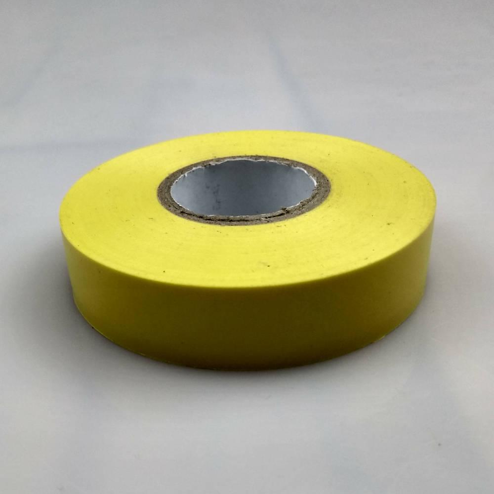 Yellow PVC Electrical Tape flat down
