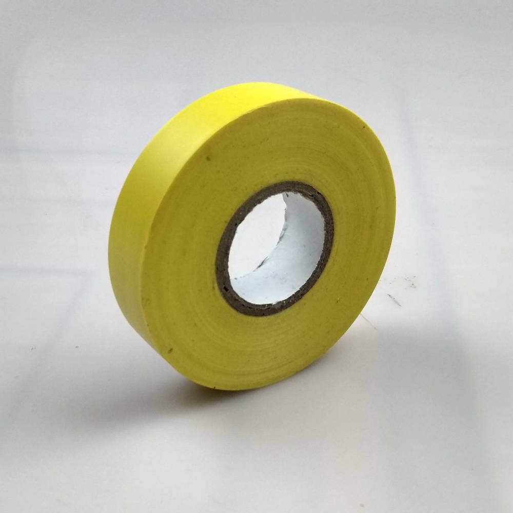 Yellow PVC Electrical Tape pointing to the left